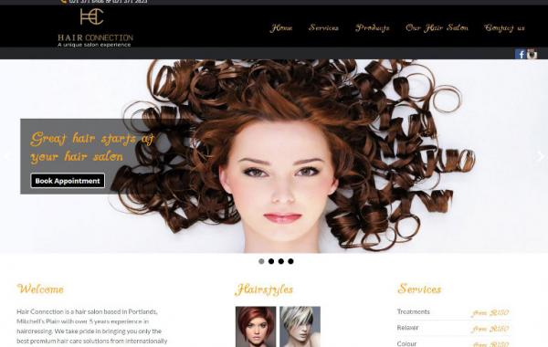 Web Design In Cape Town: Hair Connection